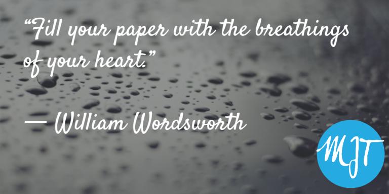 William Wordsworth quote