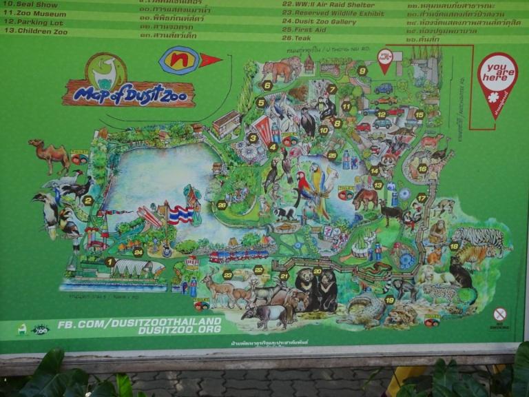 Dusit Zoo map