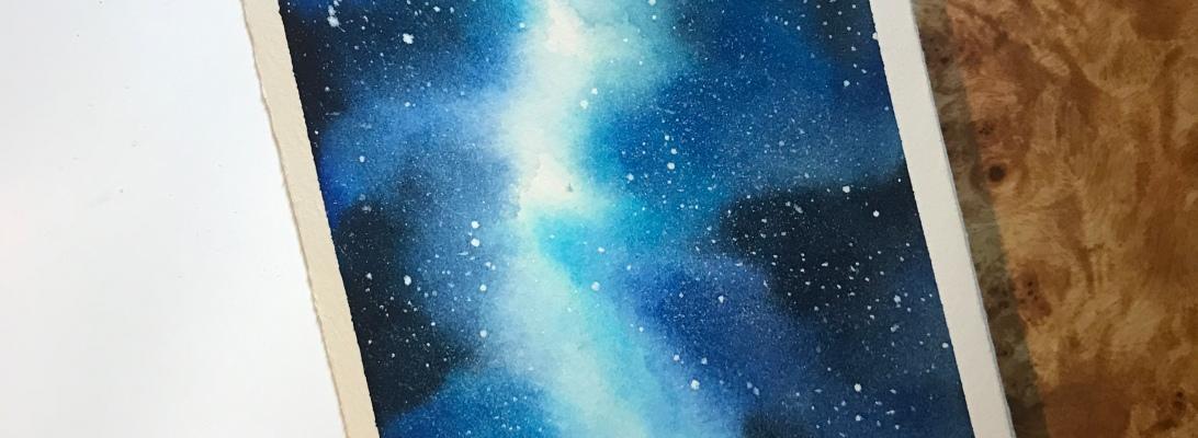 Galaxy Blue in watercolor by MorganJt