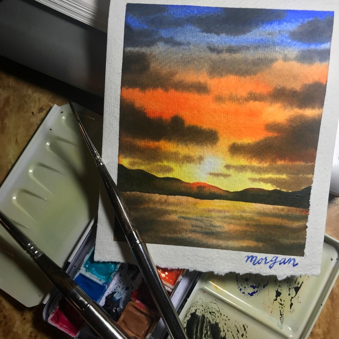 Shinhan watercolor on Khadi paper