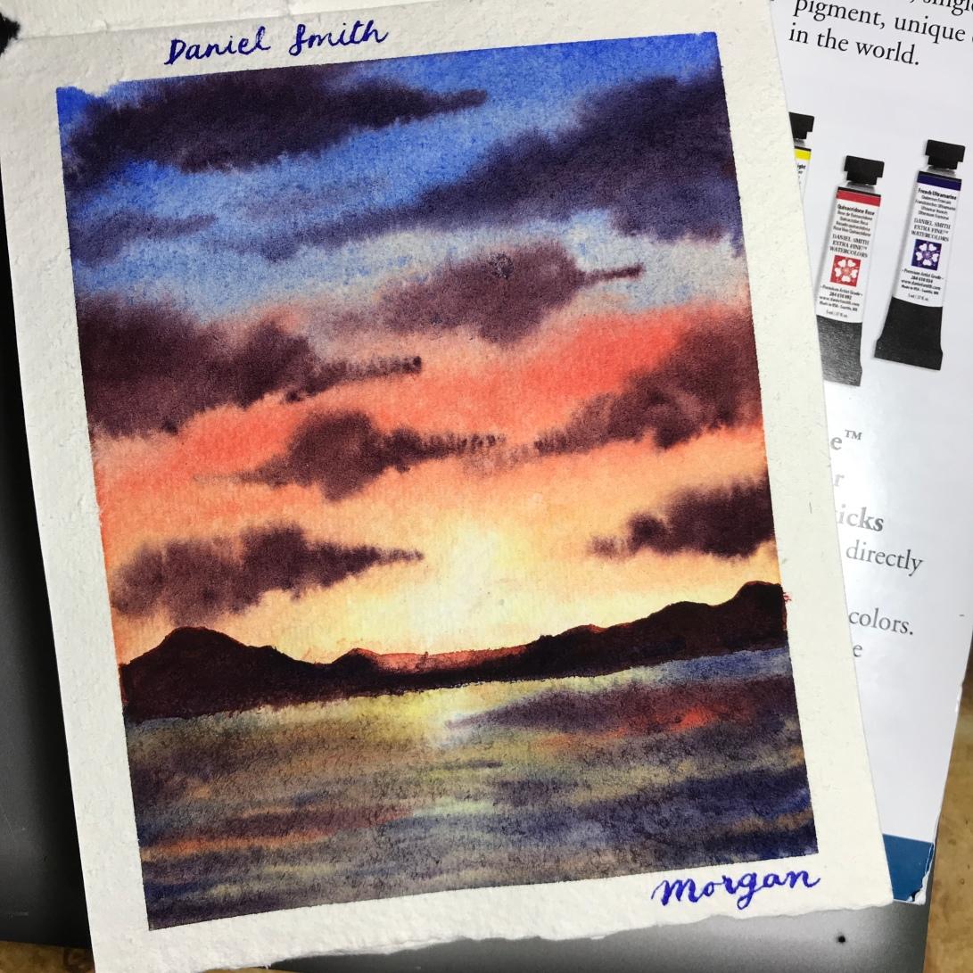 Daniel Smith watercolor on Khadi paper