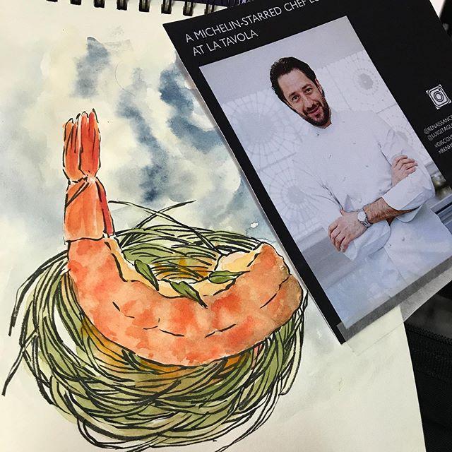 Food inspired watercolor sketch