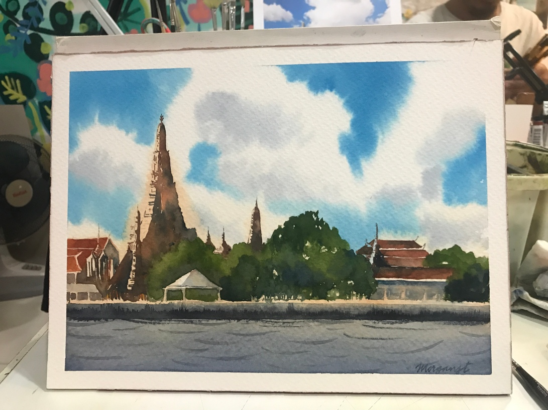 Temple of Dawn in watercolor by Morgan Jt