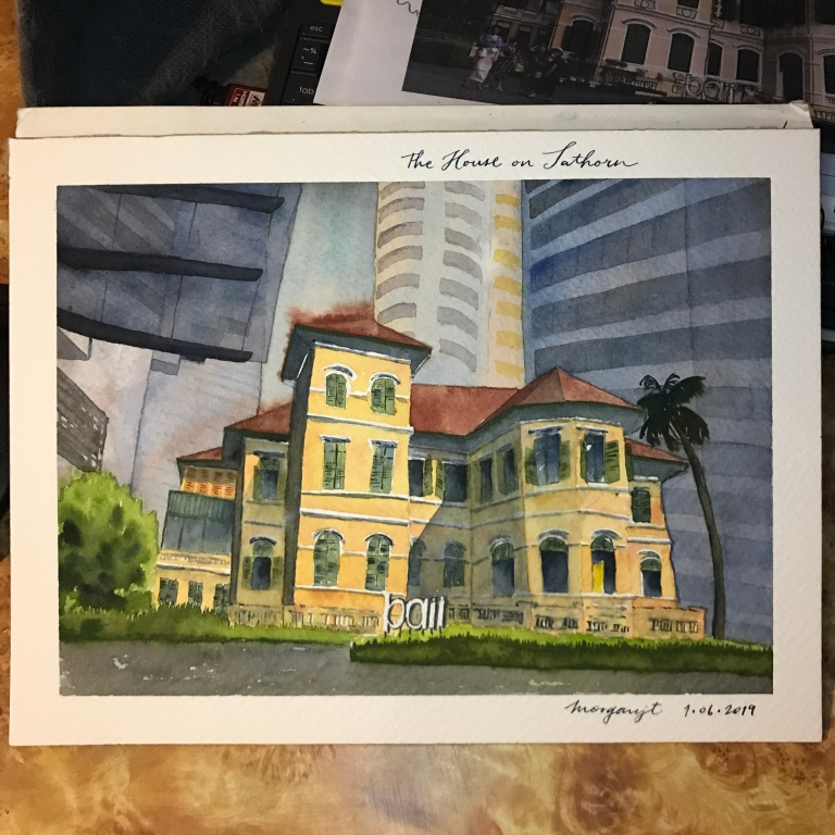 The House on Sathorn in watercolor by Morgan Jt